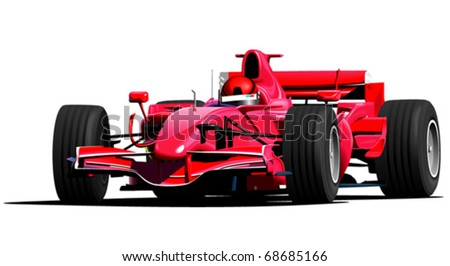 red f1 sport car