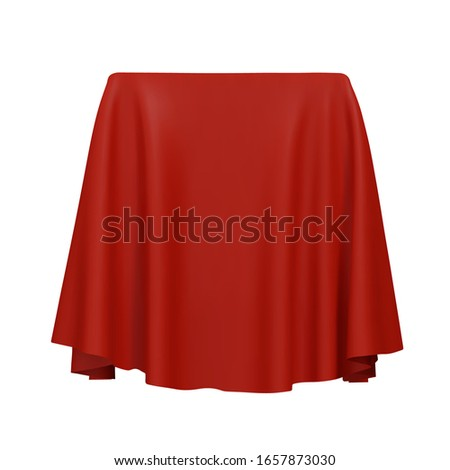 Red fabric covering a blank template vector illustration Foto stock ©