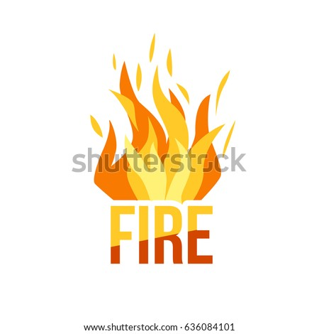 red fire icon isolated on