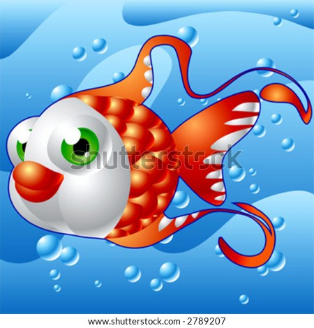 Red Fish Under Sea