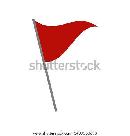 Red flag.  Vector illustration. Flat design for business financial marketing banking advertising web concept cartoon illustration.