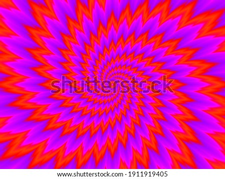 Red flower blossom. Optical expansion illusion. Сток-фото ©