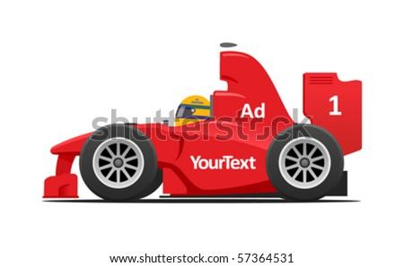 red formula car