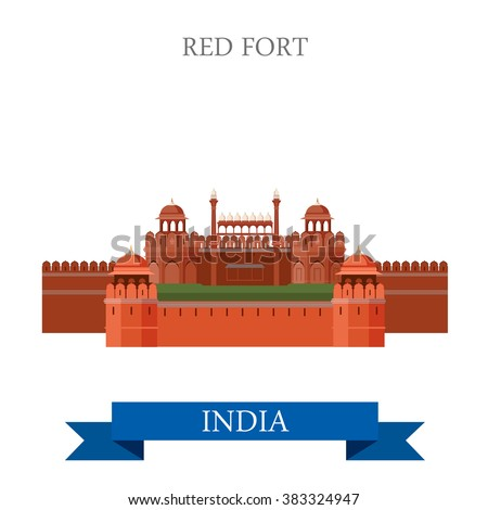 red fort in new dehli  india