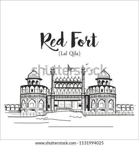 Red fort (Lal Qila) Delhi india