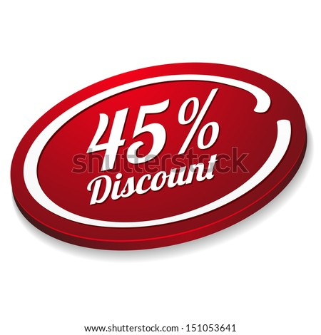 red forty five percent discount