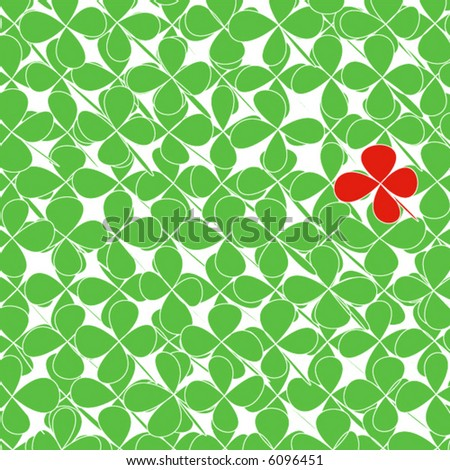 Red Four Leaf Clover vector