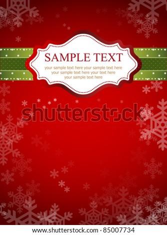 Red frame design for xmas card
