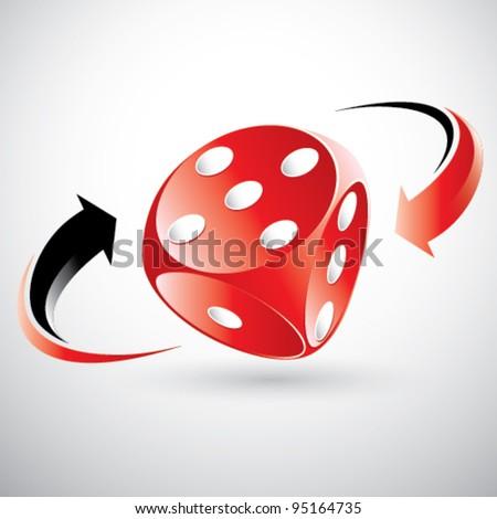 red gambling dice