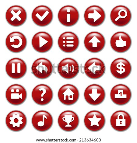 stock-vector-red-game-buttons-set-213634