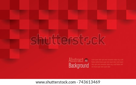 Red geometric texture. Abstract background vector can be used in cover design, book design, website background, banner, poster, advertising. - Shutterstock ID 743613469