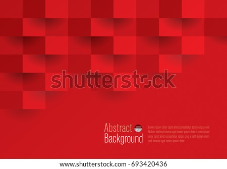 Red geometric texture. Vector background can be used in cover design, book design, website background, CD cover, advertising. - Shutterstock ID 693420436