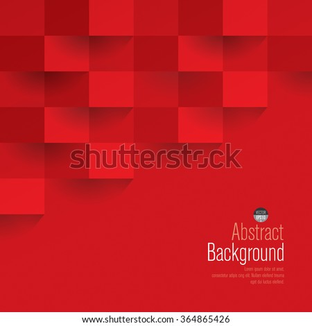 Red geometric vector background. Can be used in cover design, book design, website background, CD cover or advertising. - Shutterstock ID 364865426