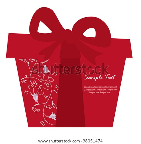 Red gift box card