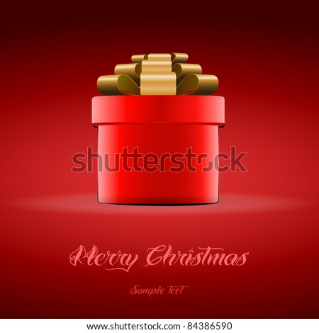 Red gift box for Christmas