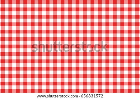 Red Gingham seamless pattern. Texture from rhombus/squares for - plaid, tablecloths, clothes, shirts, dresses, paper, bedding, blankets, quilts and other textile products. Vector illustration. Stockfoto ©