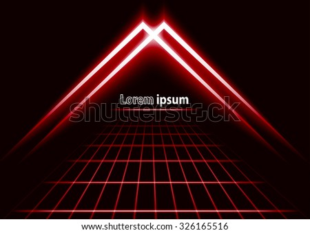 red glitter abstract futuristic