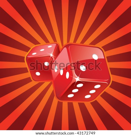 Red glossy dices