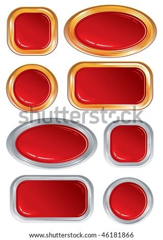Red glossy objects vector design