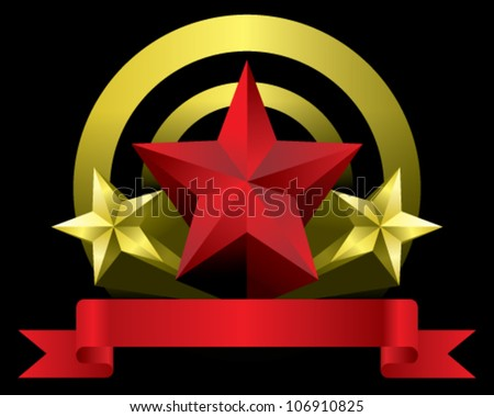 RED, GOLD STAR