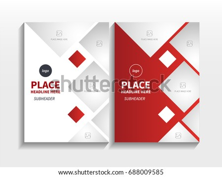 Business cover page template design download free vector art red gradient abstract diamond square theme layout with image in business brochure design template vector flashek Images
