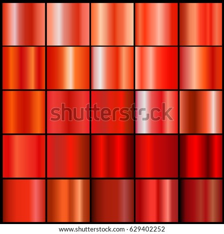 Red  gradient collection for design.Abstract  background texture. Vector illustration.