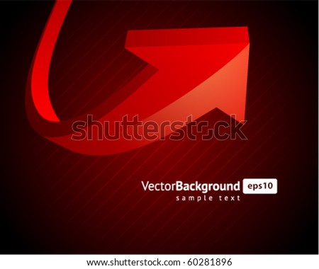 Red graph arrow move up vector background