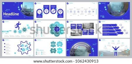 Red, gray, elements for infographics on a white background. The best set of presentation templates. Presentation, postcard and flyer, corporate report, marketing, advertising, annual report, 2019