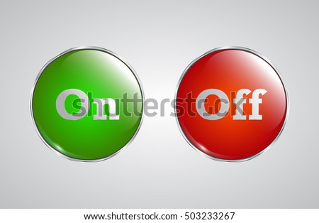 red green glass buttons with