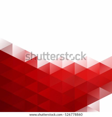Red Grid Mosaic Background, Creative Design Templates - Shutterstock ID 526778860