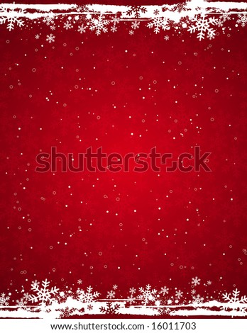 red grunge christmas background, vector illustration