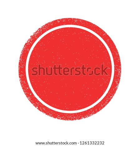 Red grunge circle texture, vector #1261332232
