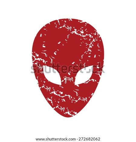 red grunge extraterrestrial