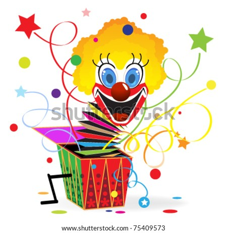 red haired clown with blue eyes