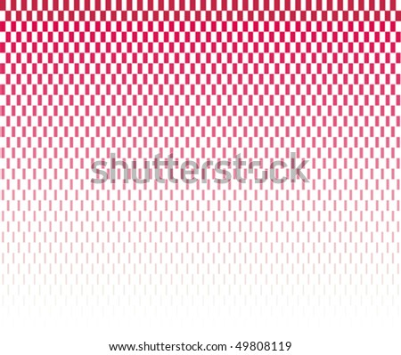 red halftone rectangles on white background