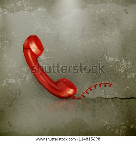 Red Handset, old-style vector