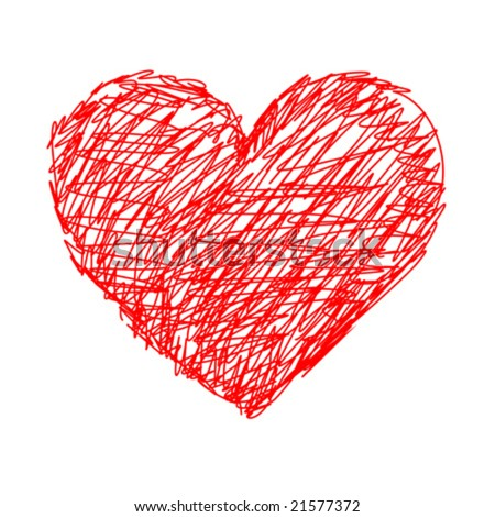 stock vector : Red heart