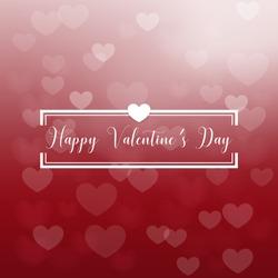 Red heart bokeh valentine background