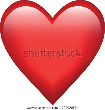 Red heart emoji symbol of love