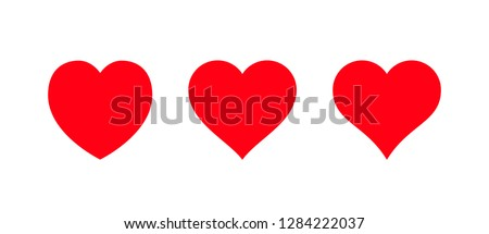 red heart icon isolated on