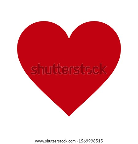 red heart icon on white