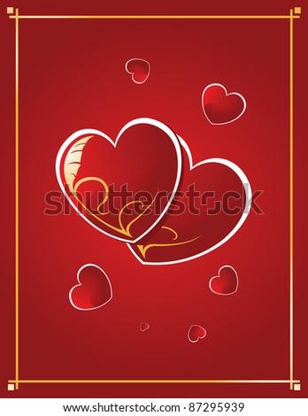 red heart in vector