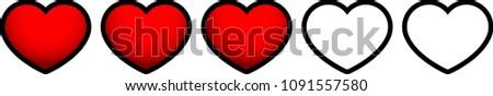 red heart life gauge 3