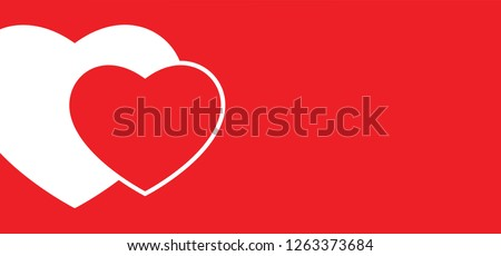 red heart month hearts shape