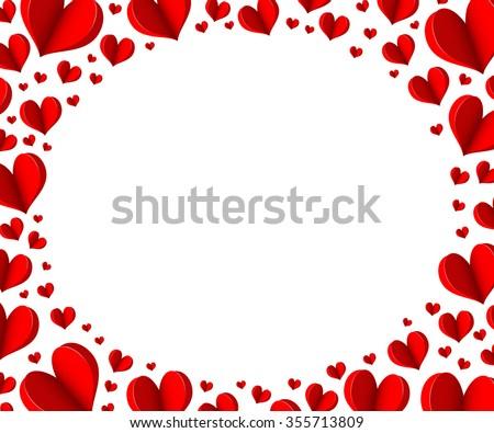 heart frame for valentines day vector design illustration - Download ...
