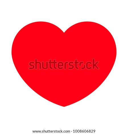 Red heart shape icon, Valentine day, Vector illustration eps 10.