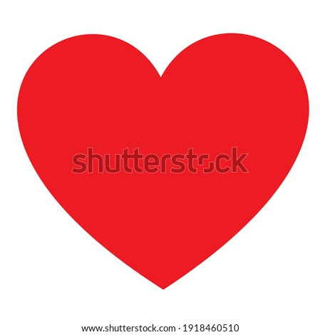 red heart shape vector illustration on whitebackground for love symbol, logo, buttons