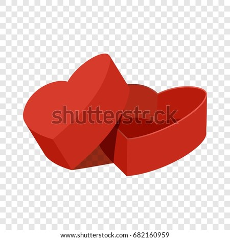 red heart shaped gift box icon