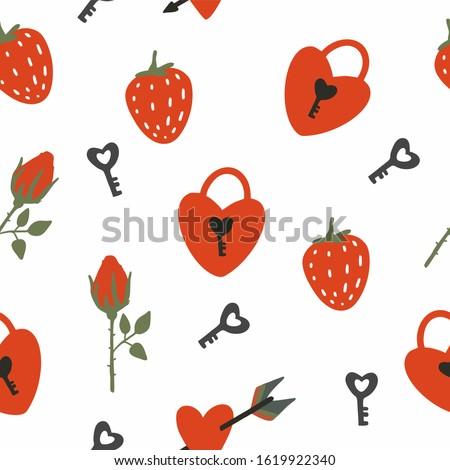 red heart shaped locks  keys