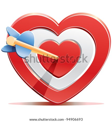 Aim Target Logo Red Heart Target Aim With